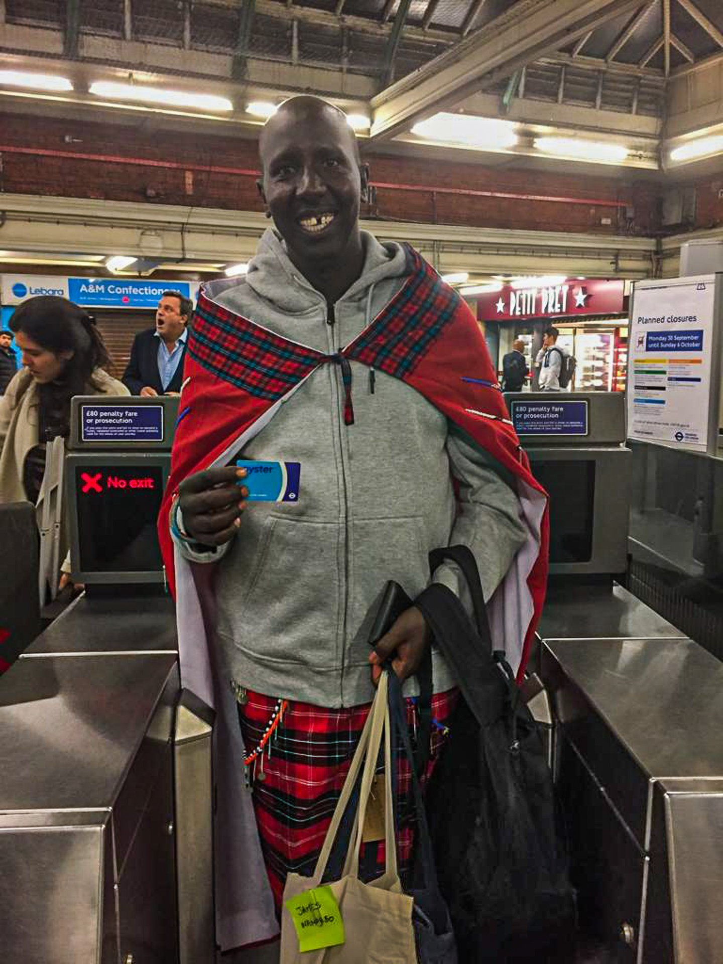 A Maasai in London